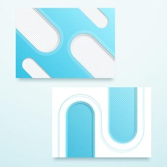 Layout de modelo de página vector azul paisagem 3d