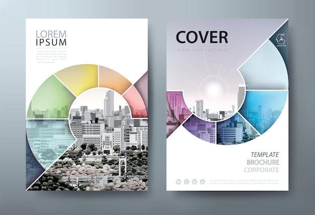 Layout de modelos de capa de livro de design de folheto em tamanho a4