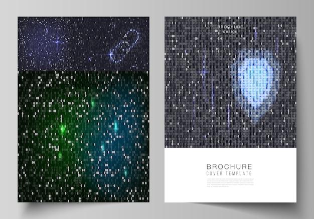 Layout de modelos de capa em formato a4 para brochura