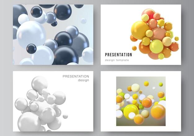 Layout de modelos de capa para brochura ou design de folheto