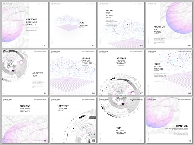 Layout de modelos de capas para folheto panfleto