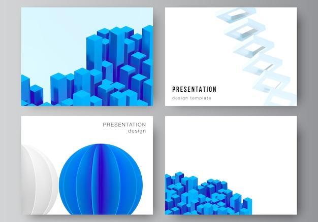 Layout de modelos de slides de apresentação