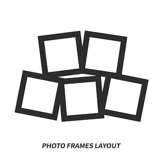 Layout de molduras de fotos. maquete de vetor para design.