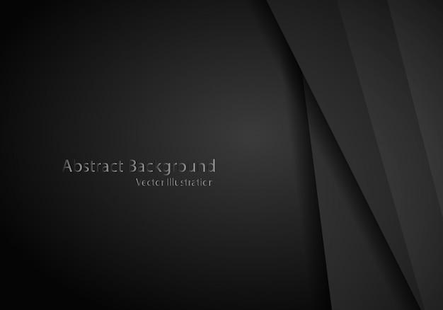 Layout de quadro preto metálico abstrato