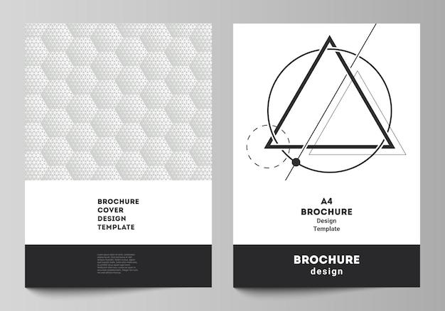 Layout de um formato modelos de design de maquetes de capa moderna