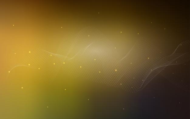 Layout de vetor amarelo com formas de círculo