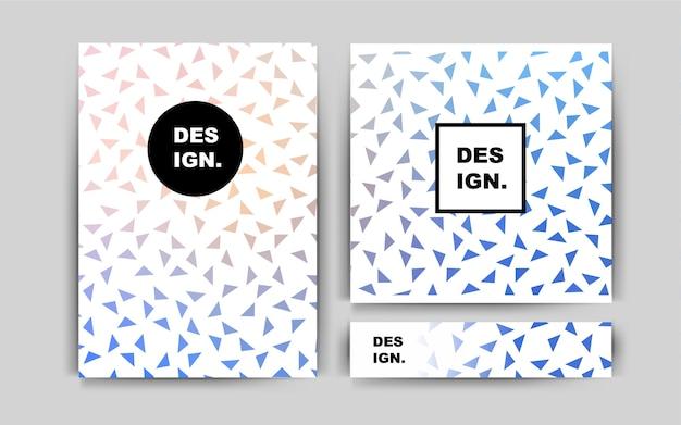 Layout de vetor azul para folhetos