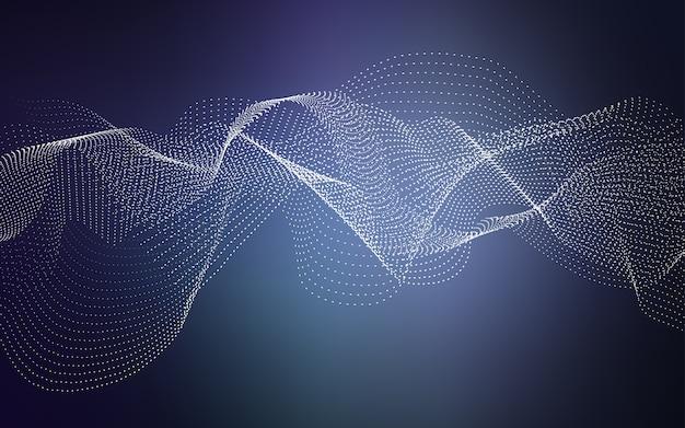 Layout de vetor de azul escuro com formas de círculo