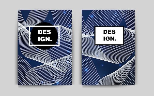 Layout de vetor de azul escuro para folhetos