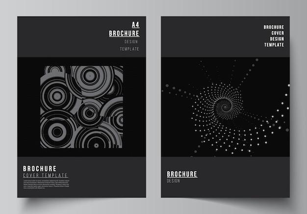Layout de vetor de modelos de maquetes de capa para brochura layout de folheto livreto capa design livro desig ...