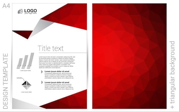 Layout de vetor vermelho escuro para folhetos