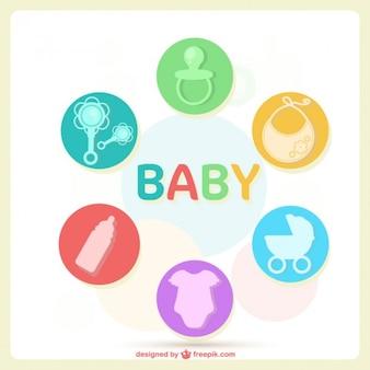 Layout do cartão do bebê