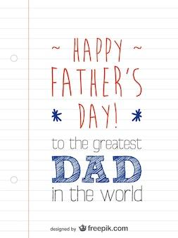 Layout do cartão do dia dos pais