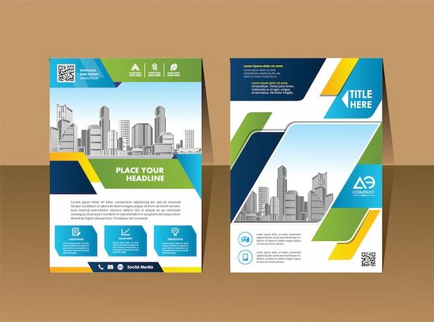 Layout do folheto do folheto do livro do catálogo a4