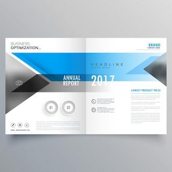 Layout do modelo brochura design da capa livreto