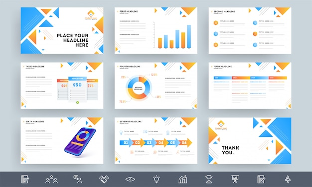 Layout do modelo de apresentação de negócios