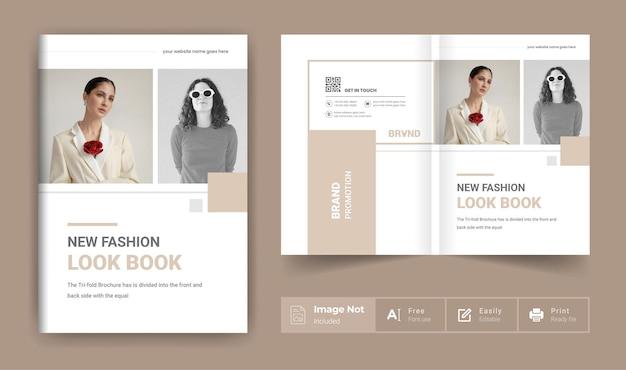 Layout do tema da página de capa do folheto de moda