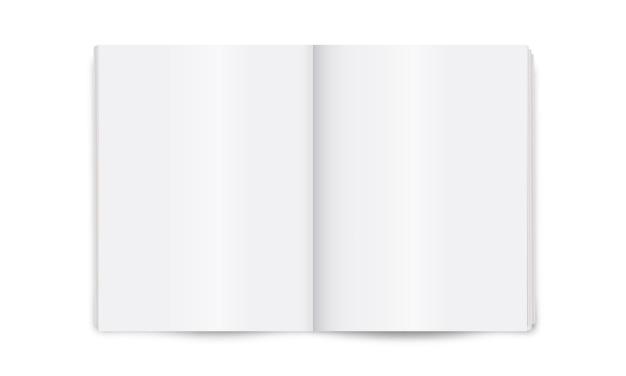 Layout em branco do jornal aberto