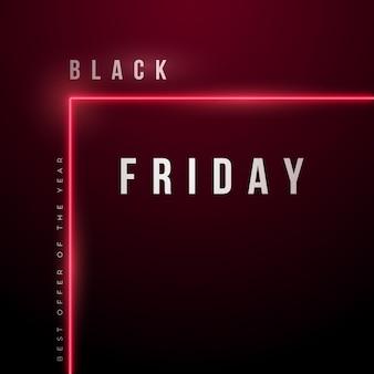 Layout preto abstrato de liquidação na sexta-feira