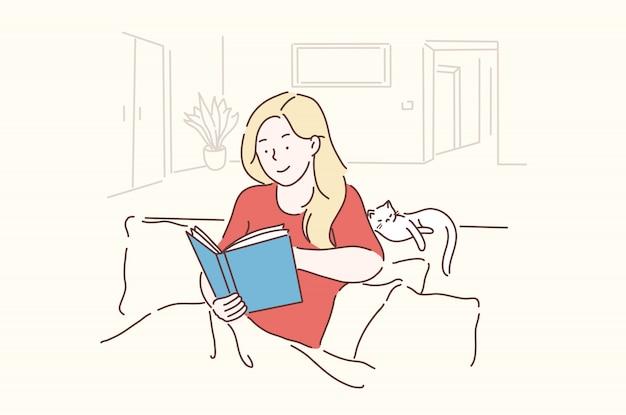 Lazer, estilo de vida, nostalgicamente, conceito de aprendizagem