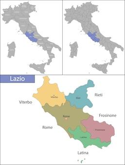 Lazio é uma região administrativa da itália localizada na parte central da península italiana