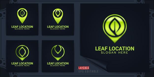 Leaf location logo