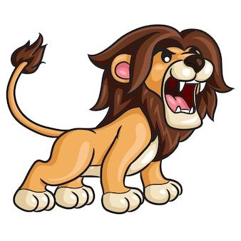 Leão bonito dos desenhos animados