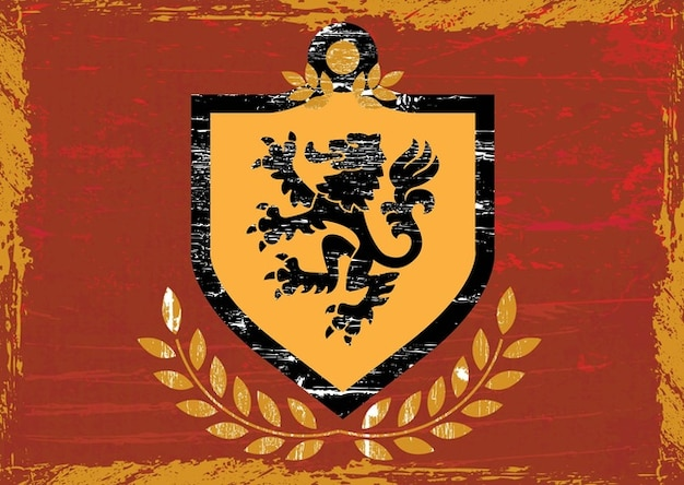 Leão casaco escudo de armas