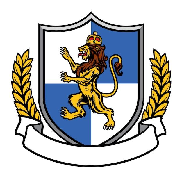 Leão com coroa heráldica