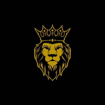 Leão com logotipo da coroa
