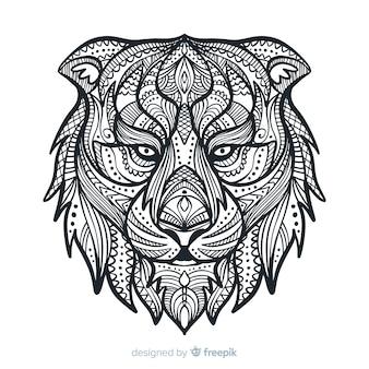 Leão da mandala