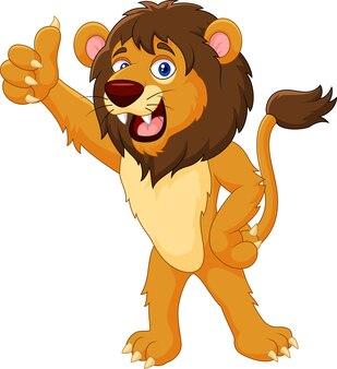 Leão dá o polegar para cima