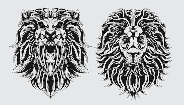 Leão de cabeças
