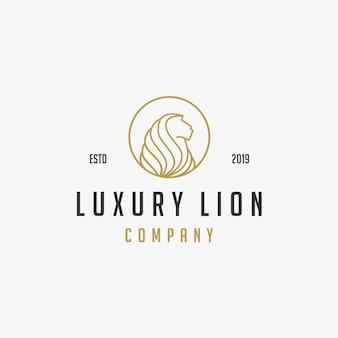 Leão de luxo ícone logotipo ilustração