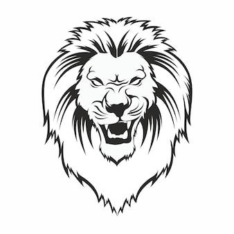 Leão desenhado à mão
