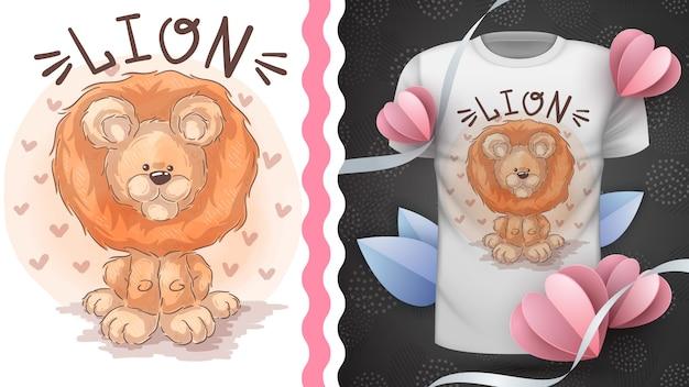 Leão do safari, ideia para impressão t-shirt