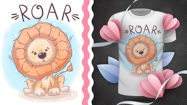 Leão do safari - ideia para imprimir camiseta