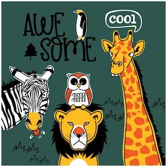 Leão e amigos desenho animado animal