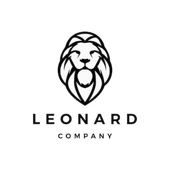Leão logo vector icon ilustração