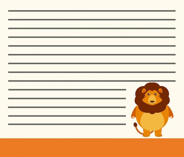 Leão no modelo de nota