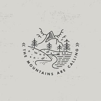 Lear ícone ou logotipo montanhas