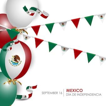 Legenda do dia da independência do méxico, 16 de setembro, ilustração vetorial