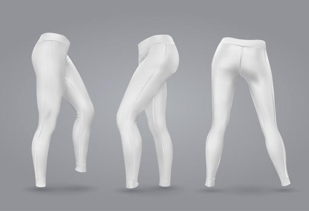 Legging feminino de maquete.