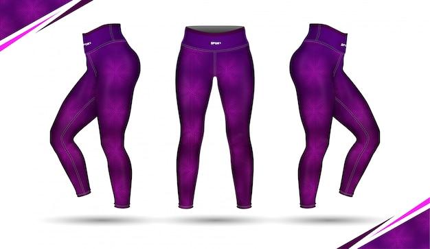 Leggings calças formação moda ilustração vector com molde