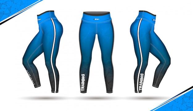 Leggings pants moda ilustração vector com molde