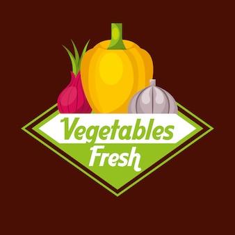 Legumes alimentos frescos