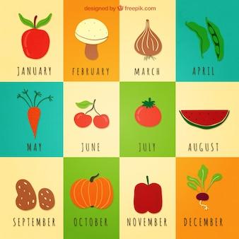 Legumes calendário