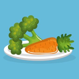 Legumes comida deliciosa café da manhã