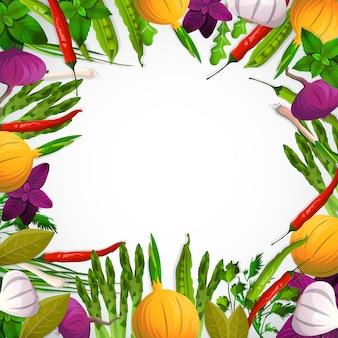Legumes e especiarias Vetor grátis