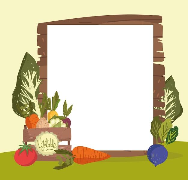 Legumes e faixa vazia